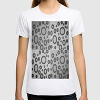 Boxes & Bubbles In Mono Womens Fitted Tee Ash Grey SMALL