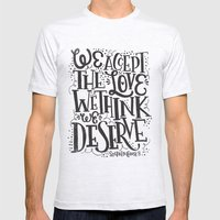 WALLFLOWER Mens Fitted Tee Ash Grey SMALL