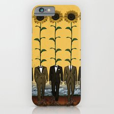 Sunflowers In Suits Print iPhone 6 Slim Case