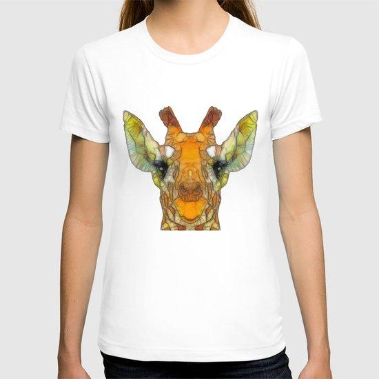 abstract giraffe calf T-shirt
