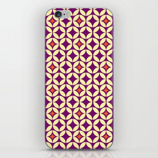 Repeated Retro - purple iPhone & iPod Skin
