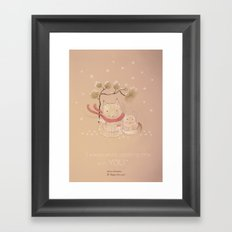 Christmas creatures- Kitties in love Framed Art Print