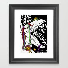 COME PLAY WITH THE MARI LWYD Framed Art Print