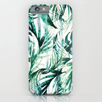 iPhone Cases featuring Green Tropical paradise  by Nikkistrange