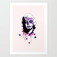 Sugar Skull Monroe Art Print
