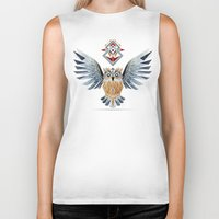 owl winter Biker Tank