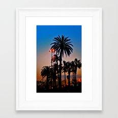 AFTER THE SUNSET Framed Art Print