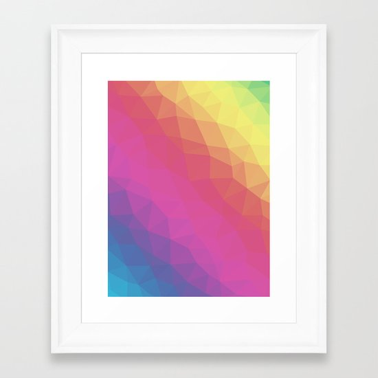 Spectrum Tris Framed Art Print