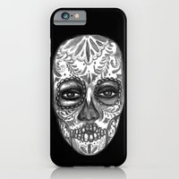 iPhone & iPod Case featuring Floating Sugar Skull by Lilyana Reyes
