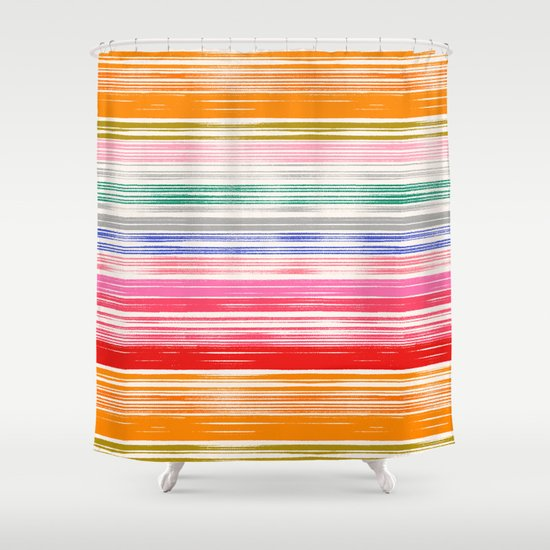 Waves 1 Shower Curtain