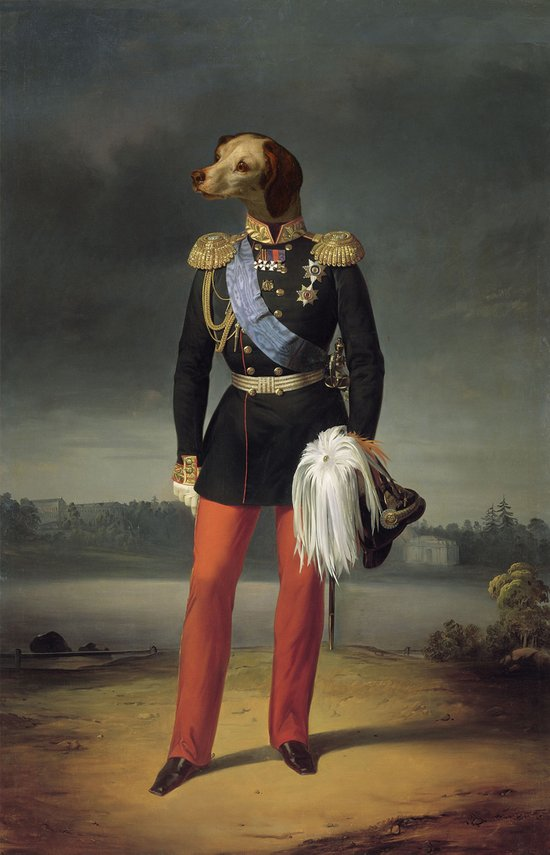 dog military Art Print