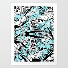 Crash & Burn Art Print
