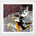 Cat Explorer 2 Art Print