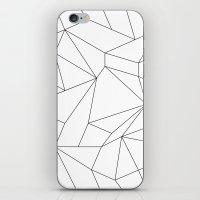 Mountain Grid Gradient Black iPhone & iPod Skin
