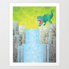 Dino Falls Art Print