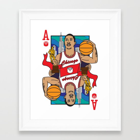 Chicago's Ace Framed Art Print