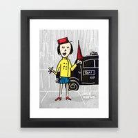Umbrella Girl Framed Art Print
