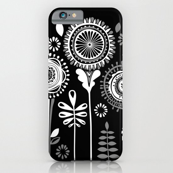 Folksy Flowerheads reverse iPhone & iPod Case