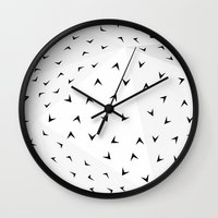 Folded Arrows Pattern Wall Clock