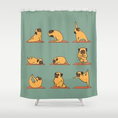 Pug Yoga Shower Curtain