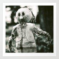 The smiley face scarecrow Art Print