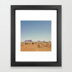 Grazing The Desert Framed Art Print