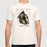 ROCKETEER! Mens Fitted Tee Natural SMALL