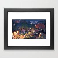 Yokai Party Framed Art Print