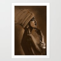 Afro Beauty Art Print