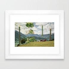 Grand Lettuce Alignment Framed Art Print