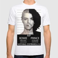 BOWIE + PRINCE Mugshot Mens Fitted Tee Ash Grey SMALL