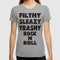 Rock N Roll Womens Fitted Tee Athletic Grey SMALL