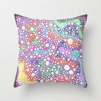 Bubbles 7 Throw Pillow