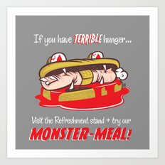 Monster meal Art Print