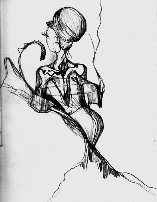Lady Profile Art Print