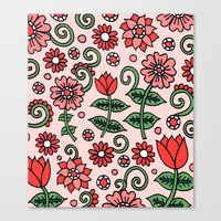 French Floral Canvas Print