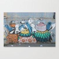 Astronaut Graffiti Canvas Print
