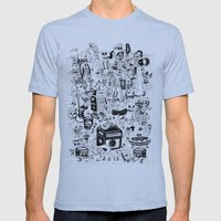 HONG KONG CLUB Mens Fitted Tee Athletic Blue SMALL