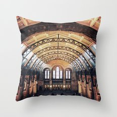 London Natural History Museum  Throw Pillow