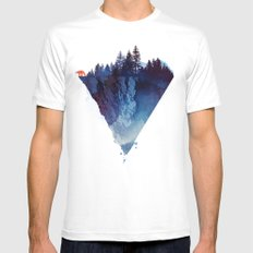 Near to the edge Mens Fitted Tee White SMALL