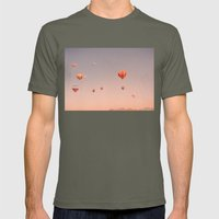 Vintage Hot Air Balloons… Mens Fitted Tee Lieutenant SMALL