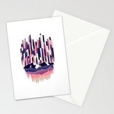 Sunrise in Vertical - Winter Purple Stationery Cards