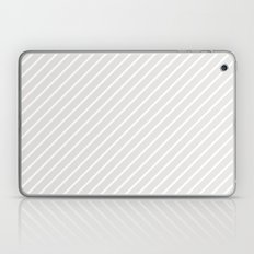 Diagonal Lines (White/Platinum) Laptop & iPad Skin