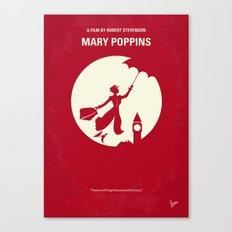 No539 My Mary Poppins minimal movie poster Canvas Print