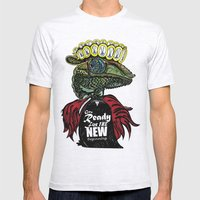 Annunaki Reptilian Reina  Mens Fitted Tee Ash Grey SMALL