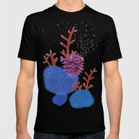 Balloon fish Mens Fitted Tee Black SMALL