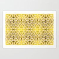 Random Rope On Gold Foil Art Print