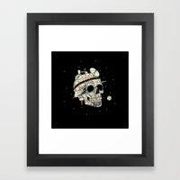 Planet Space Skull  Framed Art Print