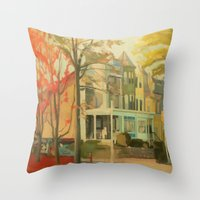 November Throw Pillow