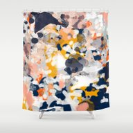 Stella - Abstract Painti… Shower Curtain